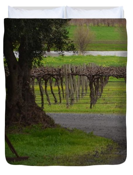 Farm And Vineyard Duvet Cover
