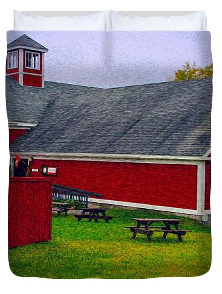 Duvet Cover featuring the photograph Farm by Bill Howard