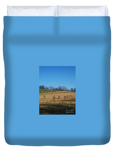 Duvet Cover featuring the photograph Farm Days by Sara  Raber
