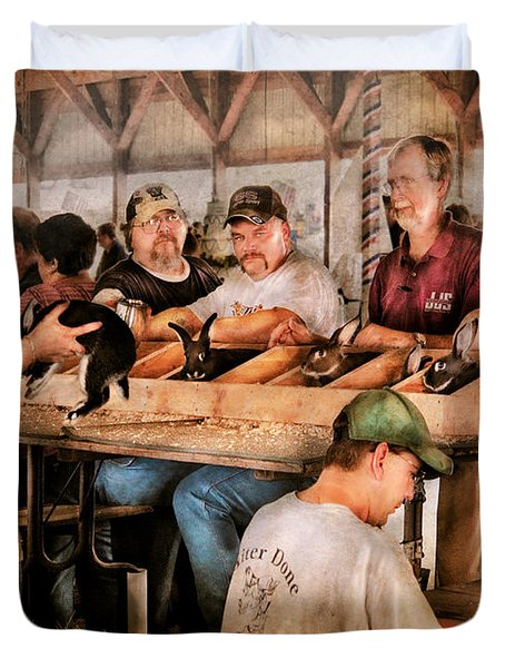 Farm - Farmer - By The Pound Duvet Cover by Mike Savad
