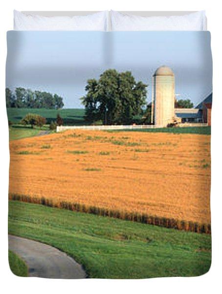 Farm Nr Mountville Lancaster Co Pa Usa Duvet Cover
