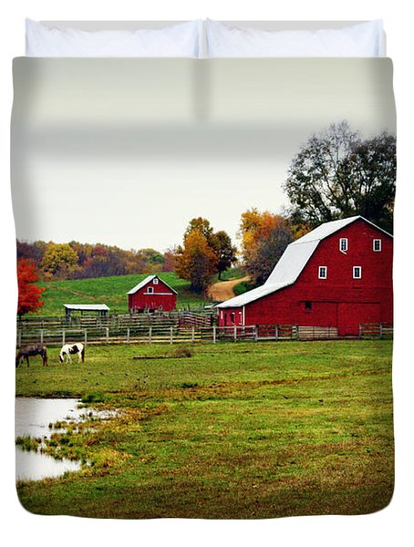 Farm Perfect Duvet Cover by Marty Koch