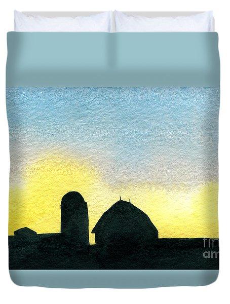 Farm Silhouette 1 Duvet Cover