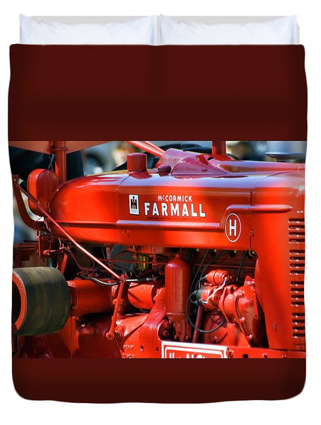 Farm Tractor 11 Duvet Cover by Thomas Woolworth