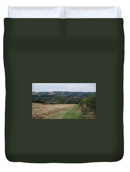 Farm Tractor 2 Duvet Cover by John Williams