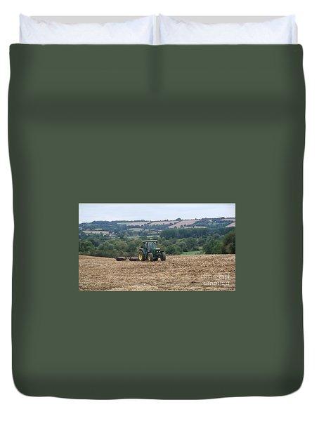 Farm Tractor Duvet Cover by John Williams