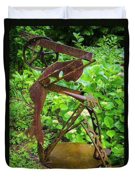 Farm Worker Duvet Cover by Carolyn Marshall