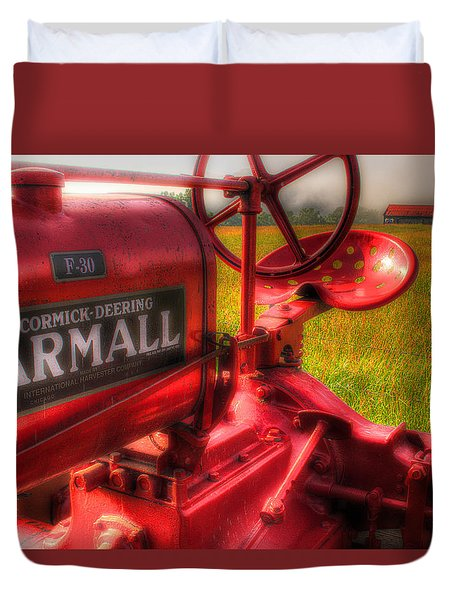 Farmall Morning Duvet Cover by Michael Eingle