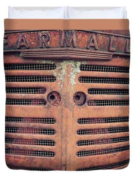 Duvet Cover featuring the photograph Farmall by Rebecca Davis