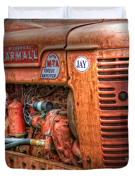 Farmall Tractor Duvet Cover by Bill Wakeley