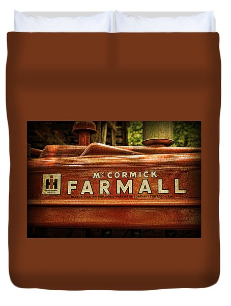 Duvet Cover featuring the photograph Farmall Tractor by Kenny Francis