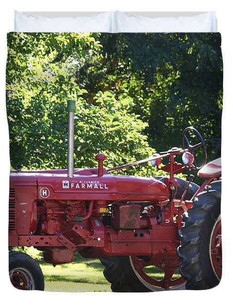 Farmall's End Of Day Duvet Cover