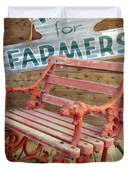 Farmer Bench Duvet Cover