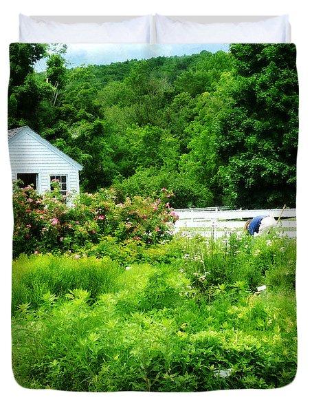 Farmer's Garden Duvet Cover by Susan Savad