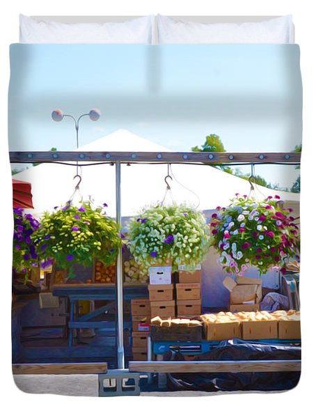 Farmers Market 2 Duvet Cover by Lanjee Chee