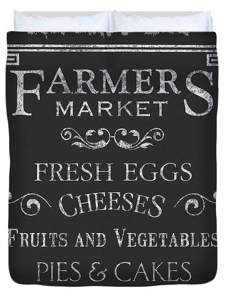 Farmers Market Duvet Cover