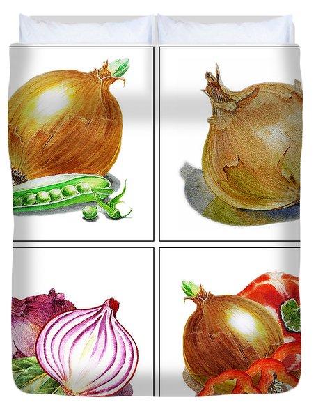 Farmers Market Onion Collection Duvet Cover