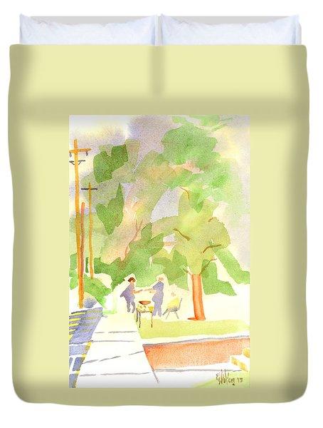 Farmers Market Vll Duvet Cover by Kip DeVore