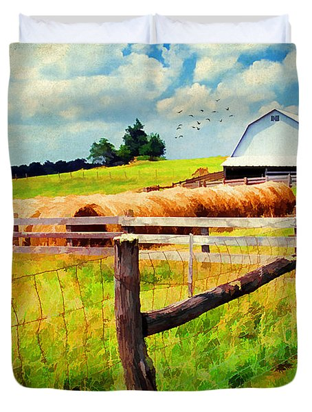 Farming Duvet Cover by Darren Fisher