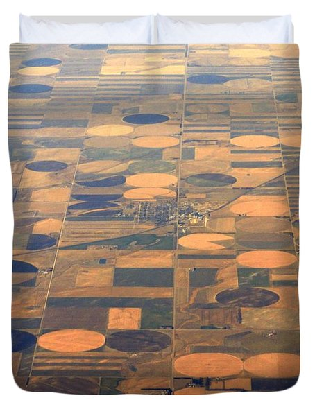 Duvet Cover featuring the photograph Farming In The Sky 2 by Anthony Wilkening