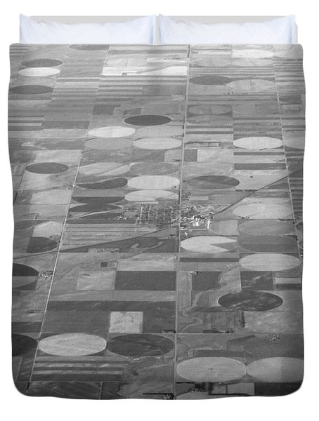 Duvet Cover featuring the photograph Farming In The Sky by Anthony Wilkening