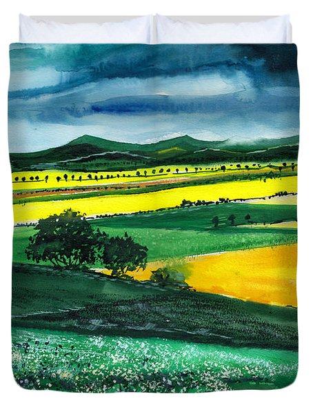 Farmland 1 Duvet Cover by Anil Nene