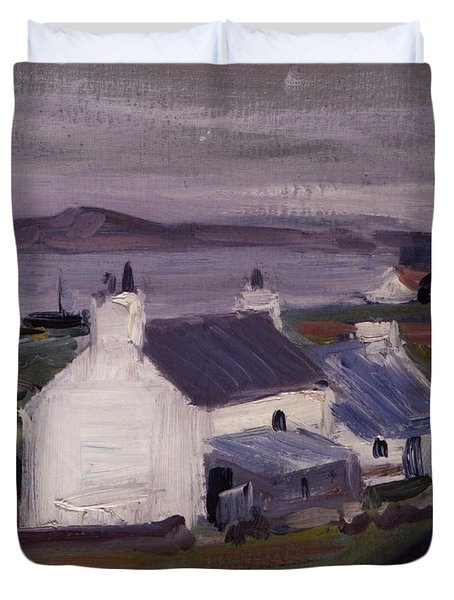 Farmsteading Duvet Cover by Francis Campbell Boileau Cadell