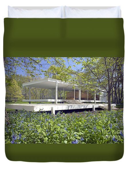 Farnsworth House Illinois Duvet Cover