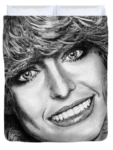 Farrah Fawcett In 1976 Duvet Cover by J McCombie