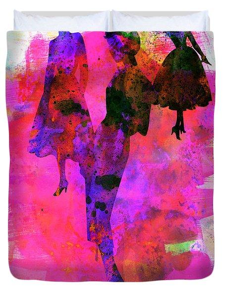 Fashion Models 1 Duvet Cover by Naxart Studio