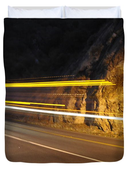 Duvet Cover featuring the photograph Fast Car by Gandz Photography