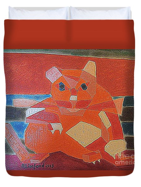 Fat Cat On A Hot Chaise Lounge Duvet Cover