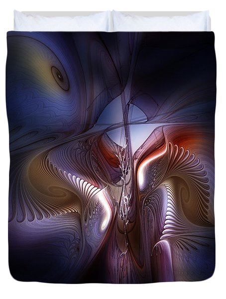 Fateful Nights Fractal Composition Duvet Cover