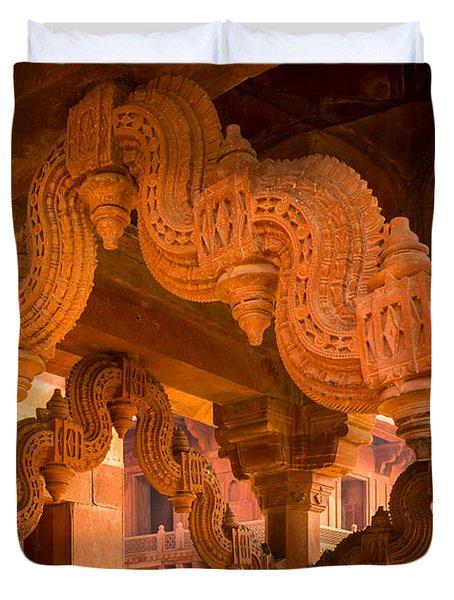 Fatehpur Sikri Detail Duvet Cover by Inge Johnsson