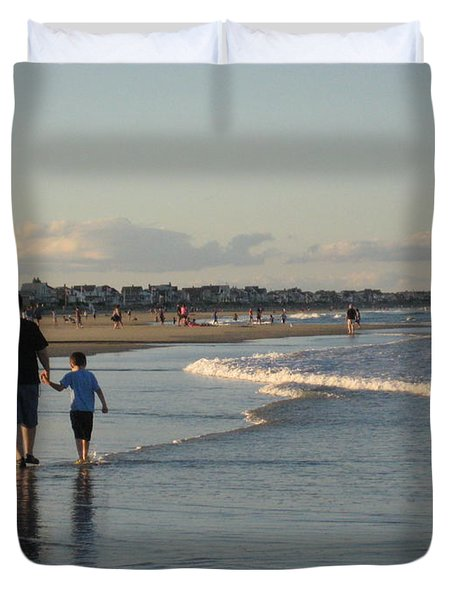 Father And Son Duvet Cover by Melissa McCrann