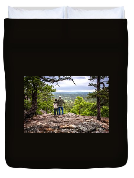 Father And Son Duvet Cover by Tamyra Ayles