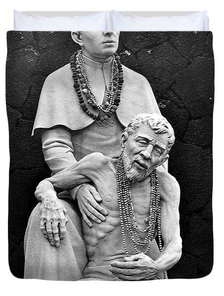 Father Damien Of Molokai Duvet Cover by Karon Melillo DeVega
