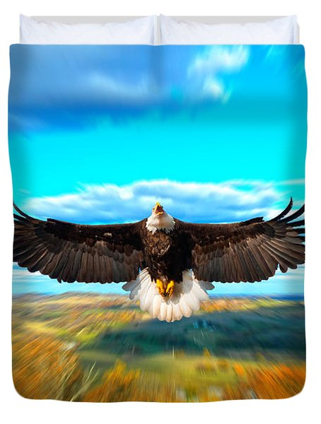 Father Restore Our Land Duvet Cover by Randall Branham