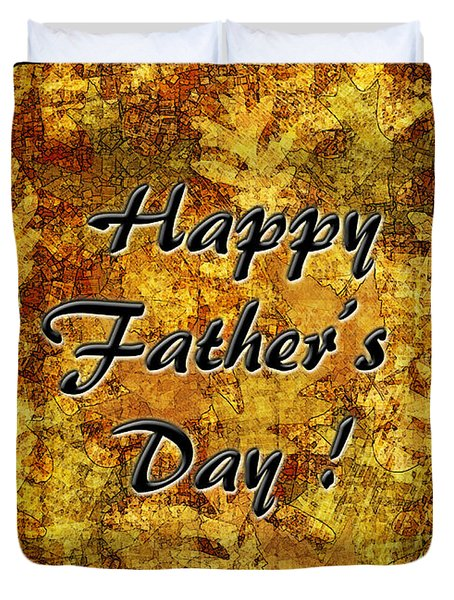 Father's Day Greeting Card I Duvet Cover by Debbie Portwood