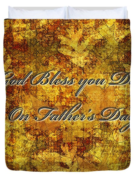 Father's Day Greeting Card IIi Duvet Cover by Debbie Portwood