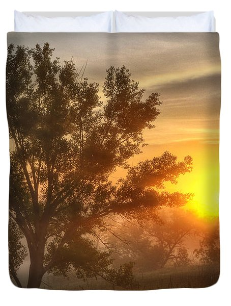 Father's Day Sunrise Duvet Cover