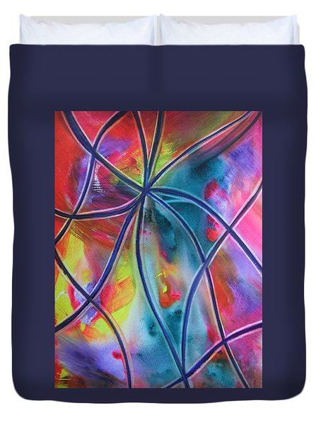 Faux Stained Glass 1 Duvet Cover