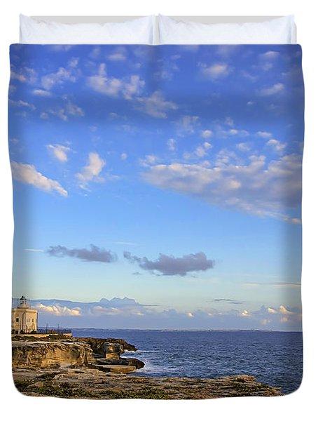 Favignana - Lighthouse Duvet Cover