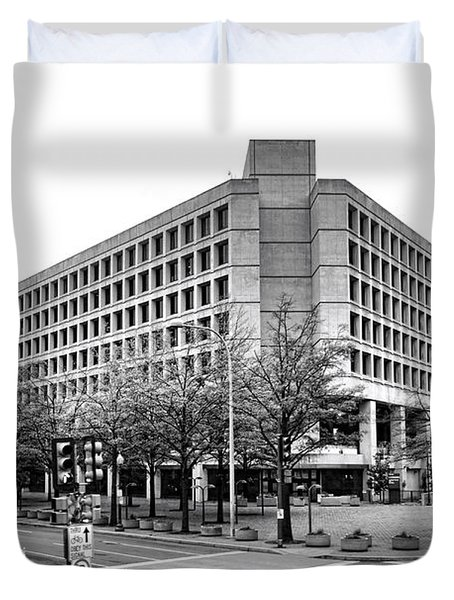 Fbi Building Front View Duvet Cover