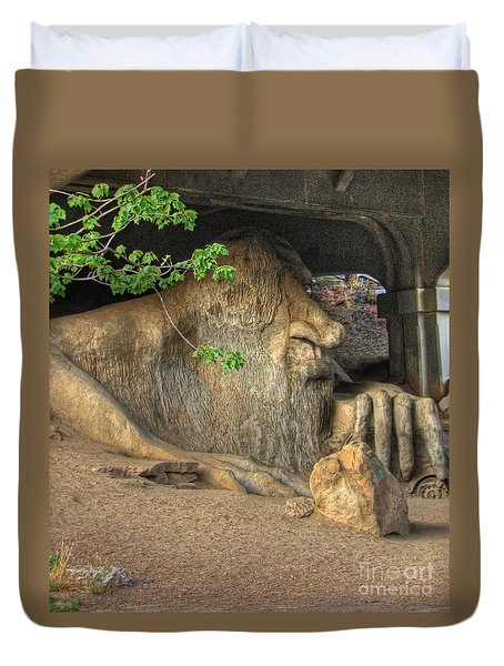 Duvet Cover featuring the photograph Fe Fi Fo Fum ... by Chris Anderson