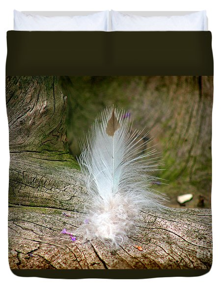 Feather Duvet Cover by Karen Adams