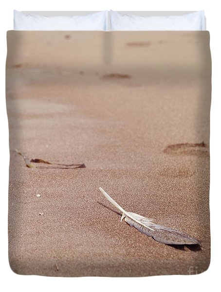 Feather On Sand Duvet Cover