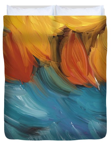 Feathers 5 Duvet Cover by Naomi McQuade