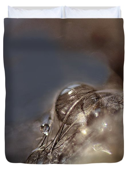 Feathers And Pearls Duvet Cover by Susan Capuano
