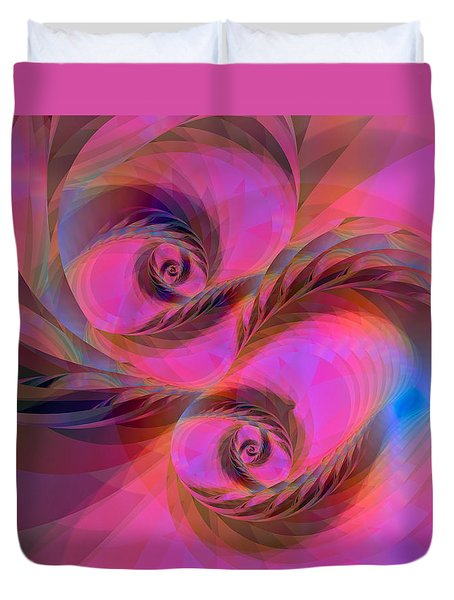 Feathers In The Wind Duvet Cover by Judi Suni Hall